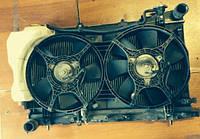 Диффузор с вентиляторами осн радиатора 2секц комплект 7 лопастей / 5лоп Subaru Forester 2.0
