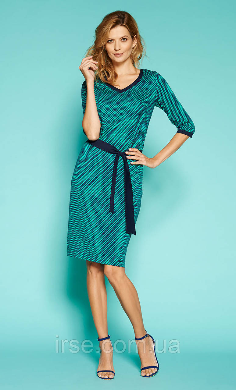 Zaps платье Helmi изумрудного цвета, коллекция весна-лето 2019.