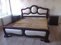 Ліжко дерев'яне з м`якою спинкою