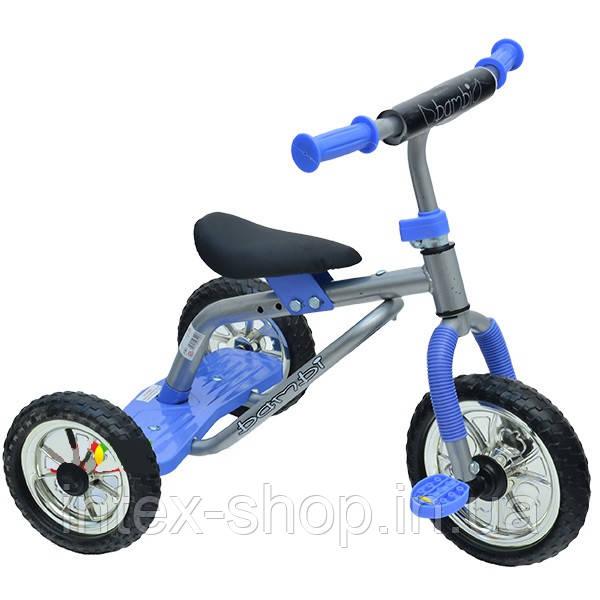 Трехколесный велосипед Profi Trike M0688-2 Серо-голубой