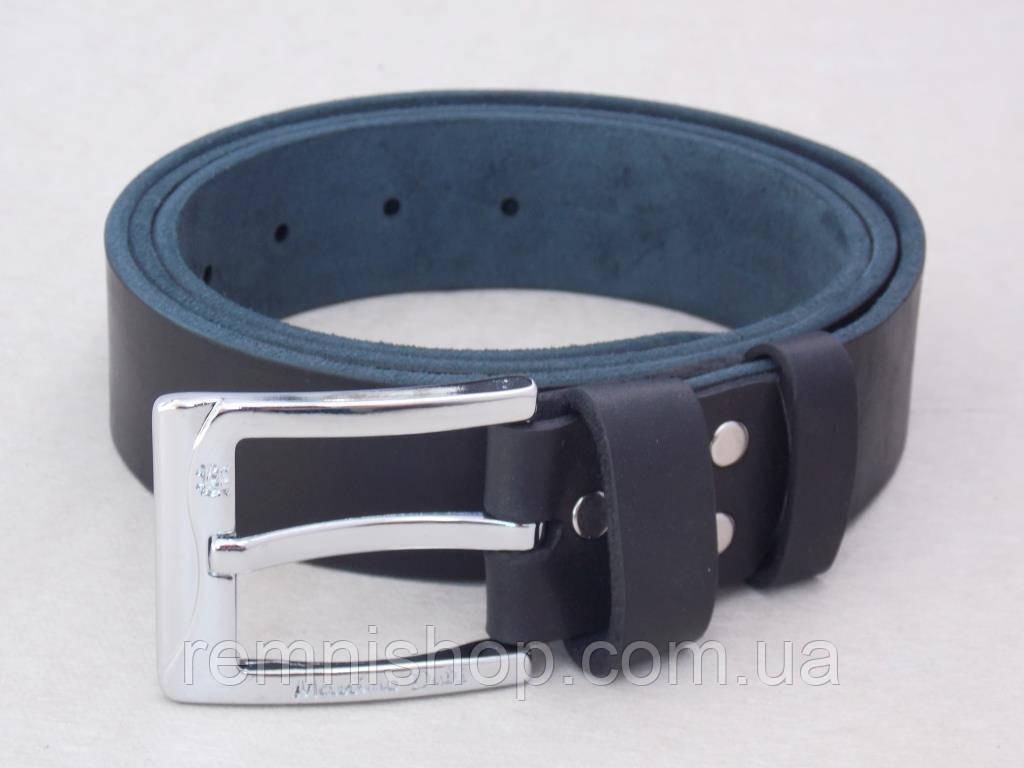 Мужской кожаный ремень Massimo Dutti джинсовый
