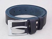 Мужской кожаный ремень Massimo Dutti джинсовый, фото 1