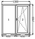 """Вікно поворотно-відкидне 1300х1400 на кухню в """"Хрущовці"""" Миколаїв, фото 2"""