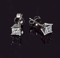 Женские серьги из белого золота с бриллиантами С37Л1№35