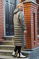 44 46 48 50 демисезонное стеганое пальто молодежное модное с капюшоном, фото 3