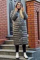 44 46 48 50 демисезонное стеганое пальто молодежное модное с капюшоном, фото 2