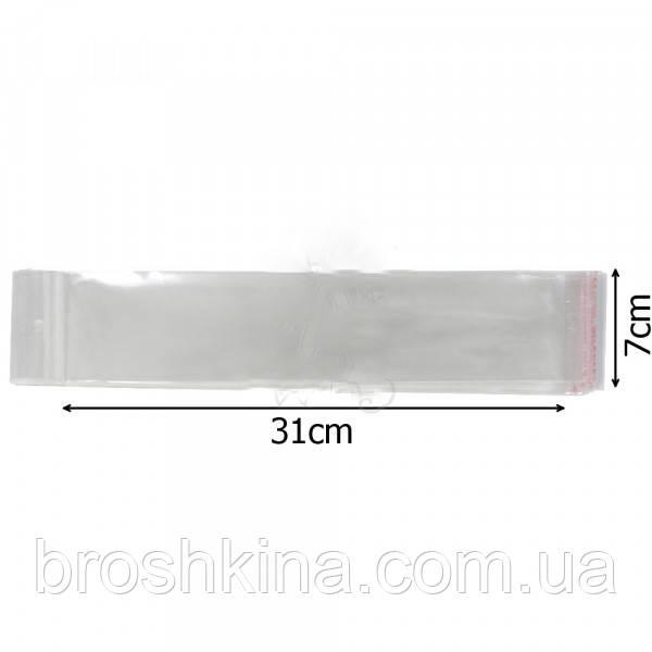 Упаковочные пакеты 7*31 см еврослот с клейкой лентой 100 шт/уп
