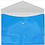 Папка конверт непрозрачная А4 на кнопке Оптима, 180 мкм фактура ПОЛОСА синяя O31315-02, фото 2