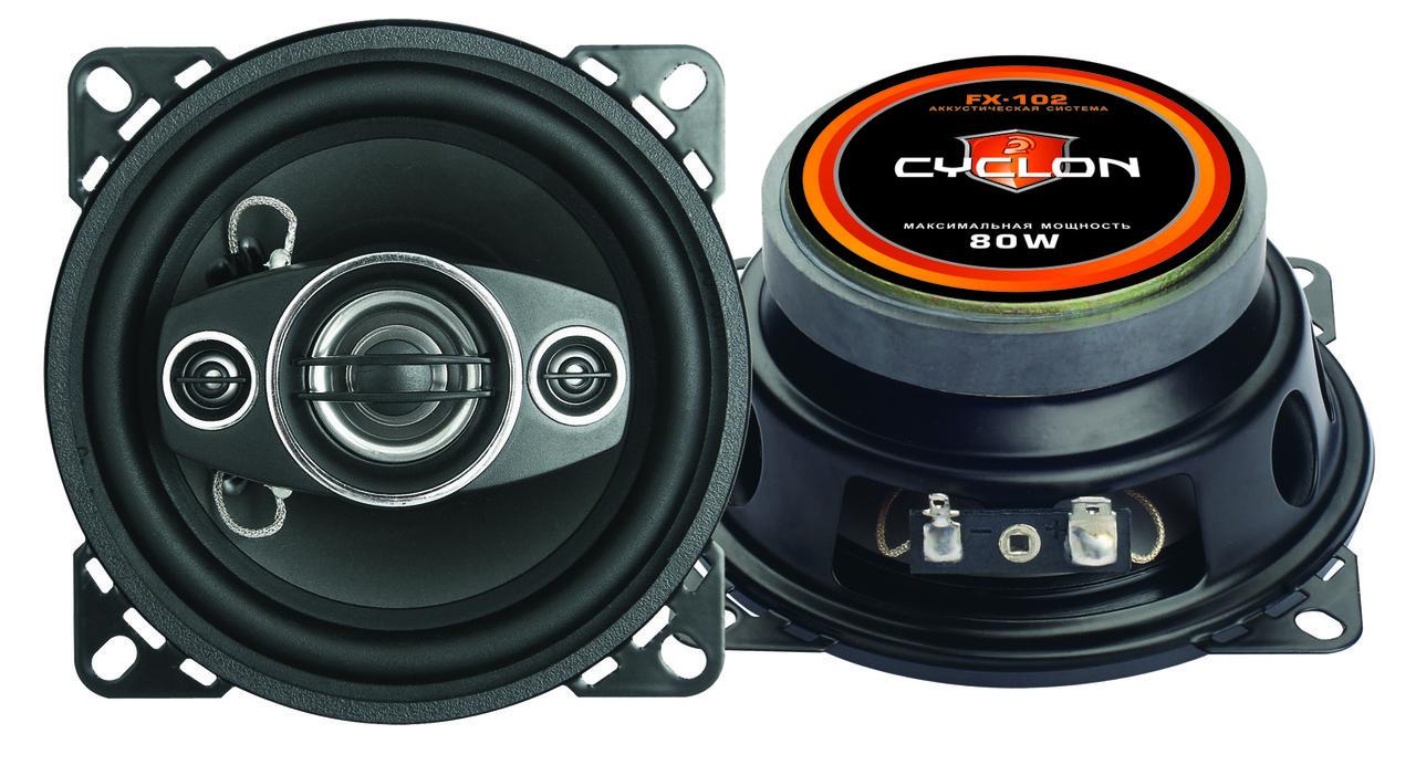 Автоакустика, динамик 10см  80W 2 полосы Cyclon