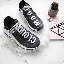 Мужские кроссовки Adidas Human Race NMD Pharrell Oreo AC7359, Адидас НМД, фото 2