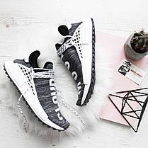 Чоловічі кросівки Adidas Human Race NMD Pharrell Oreo AC7359, Адідас НМД, фото 2