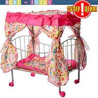 Кроватка  9350 / 015 на колесиках с балдахином
