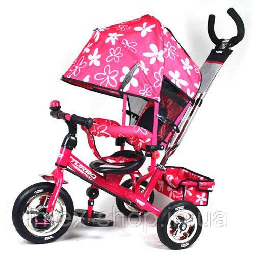 Трехколесный велосипед Profi Trike М 5361-3-1 (надувные колеса) Розовый