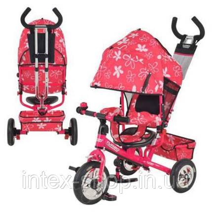 Трехколесный велосипед Profi Trike М 5361-3-1 (надувные колеса) Розовый, фото 2