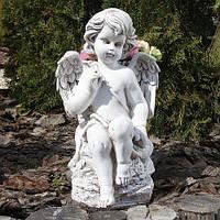 Ангел с корзиной BST 480270  32 см светящийся