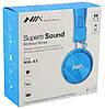 Беспроводные Bluetooth стерео наушники NIA X3 с МР3 и FM синие, фото 8