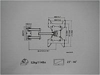 Кронштейн sl10+9D 23'-46' 52kg
