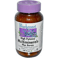 Мультиминералы (Multiminerals), Bluebonnet Nutrition, 180 капсул