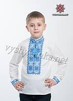 Вышиванка для мальчика, синий узор, арт. 4401