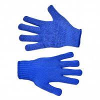 Перчатки вязаные синие с мелким вкраплением L (646), (Украина)