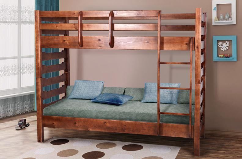 Подростковая деревянная 2-х этажная кровать -Троя (доступоно 6 цветов)