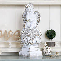 Ангел на цветке BST 480275 37 см золото