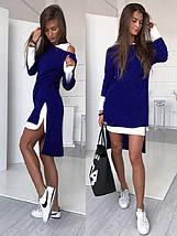 Короткое платье двойка с накидкой из ангоры sh-009 (42-56р, разные цвета), фото 2