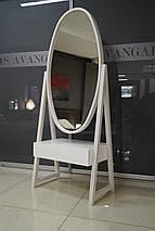 Зеркало напольное с тумбой для хранения, фото 2