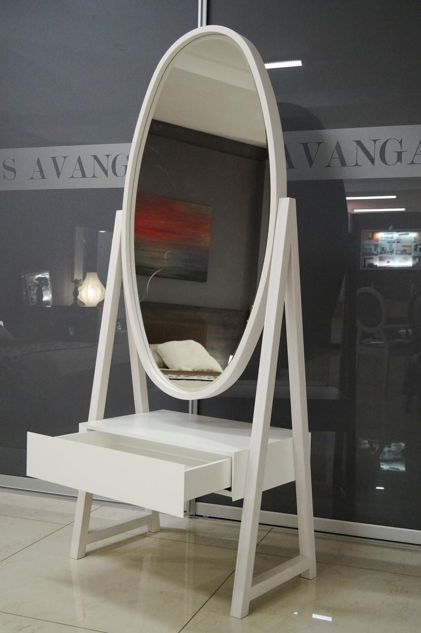 Зеркало напольное с тумбой для хранения