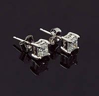 Женские серьги из белого золота с бриллиантами С37Л1№36