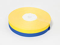 Тканевая лента 2 см. (33 м.) Желто синяя