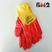 Перчатки  синтетические с вспененным латексным покрытием 3/4 ТМ Seven