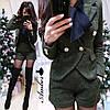 Шикарный костюм букле пиджак+шорты с карманами, размеры 42-44 и 44-46, фото 2