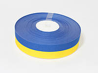 Тканевая лента 2.5 см. (33 м.) Желто синяя