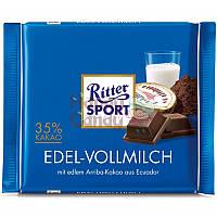 Шоколад Ritter Sport Edel-vollmilch Риттер Спорт Альпийское молоко + какао, 100г Германия