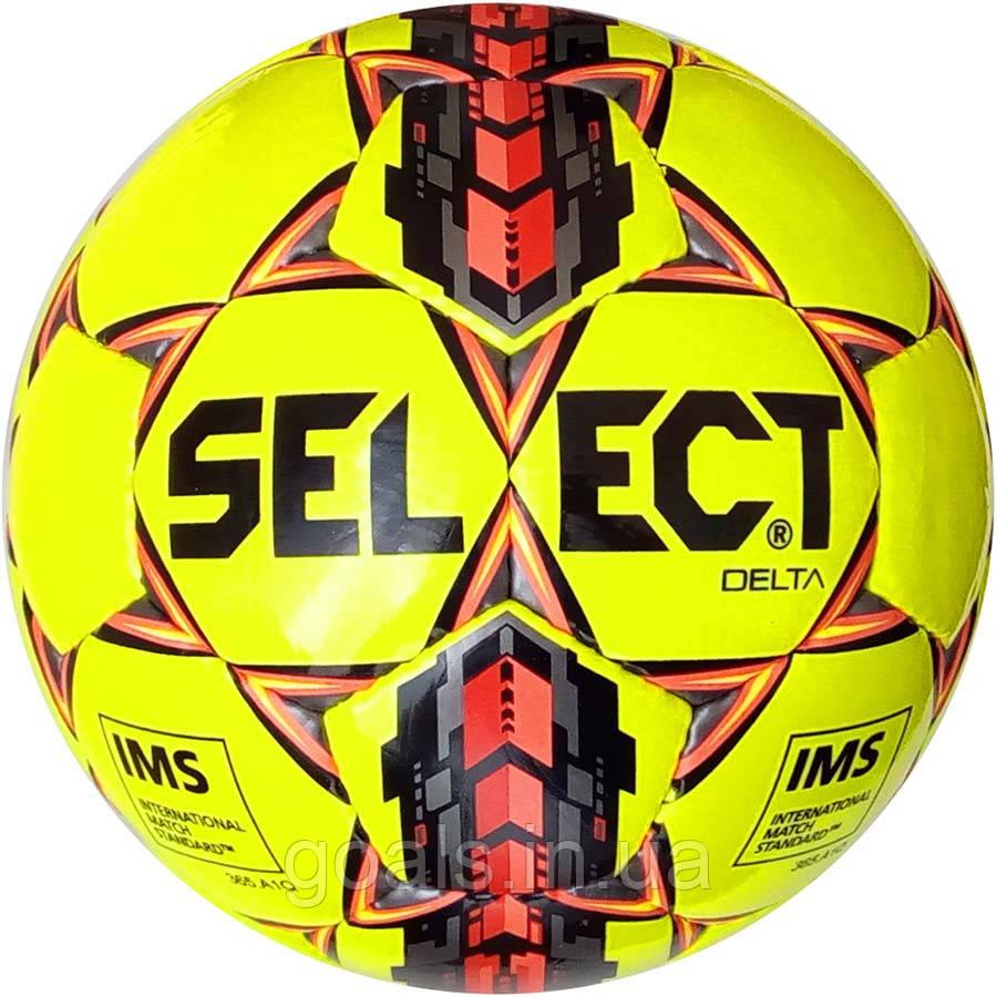 Мяч футбольный SELECT DELTA IMS (215) желт/черн р.5