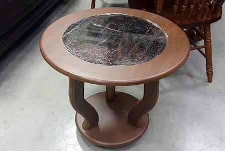 Стеклянный журнальный столик на колесиках МС-14 Верона Антоник, цвет на выбор, фото 2