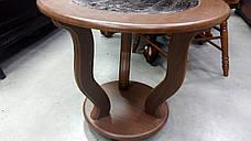 Стеклянный журнальный столик на колесиках МС-14 Верона Антоник, цвет на выбор, фото 3