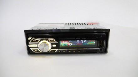 Магнитола в машину 1DIN MP3-6317BT RGB/Съемная панель - Usb+RGB подсветка+Fm+Aux+ пульт
