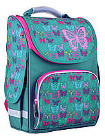 554449 Рюкзак каркасный Smart PG-11 Butterfly turguoise 554449