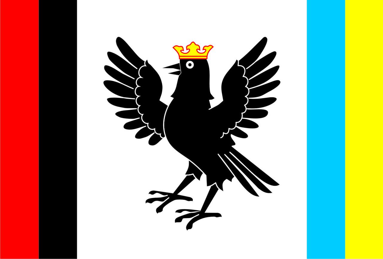Флаг Ивано-Франковской области 0,9х1,35 м. шелк