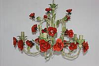 Люстра флористика кованая цветы