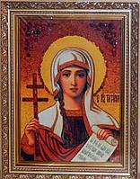 Картины и иконы из янтаря. Икона Святая Татьяна