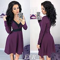 Платье женское короткое с V-вырезом, фото 1