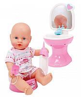 Кукла-пупс Simba New Born Baby Ванная комната 30 см (5036467)
