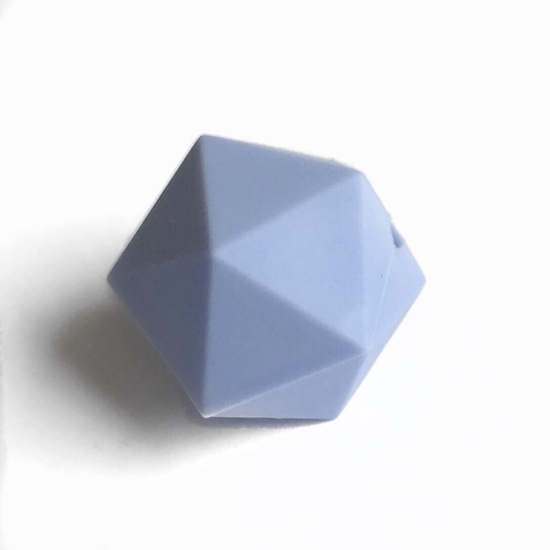 Икосаэдр 23мм (серенити) силиконовая бусина