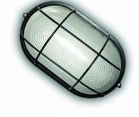 Светильник ЖКХ герметичный ip54 под лампу (Е27),овал с решеткой, накладной Lemanso