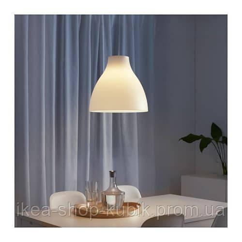 ИКЕА МЕЛОДИ Подвесной светильник, белый, 28 см.