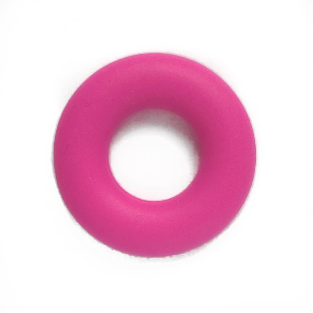 Колечко бублик (малина) 43мм, бусины из пищевого силикона