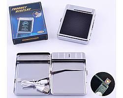 Портсигар+USB запальничка на 20 сигарет (Спіраль розжарювання)